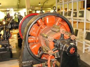 """5A - Particolare turbina eccitatrice, oggi situata al """"museo della tecnica elettrica dell'università di Pavia"""""""