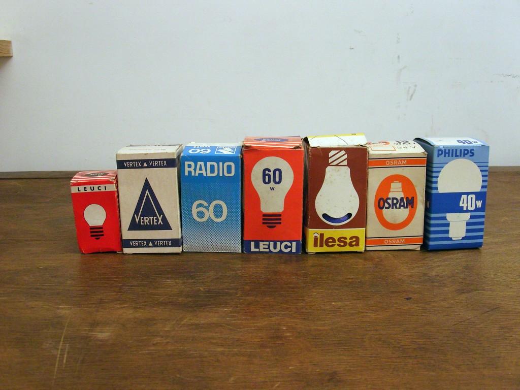 Confezione lampade anni 60 Zoom