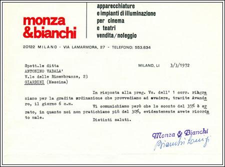 Ditta artigianale costruttrice di riflettori teatrali anni 40, Milano