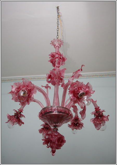 Lampadario del 900 in vetro di murano