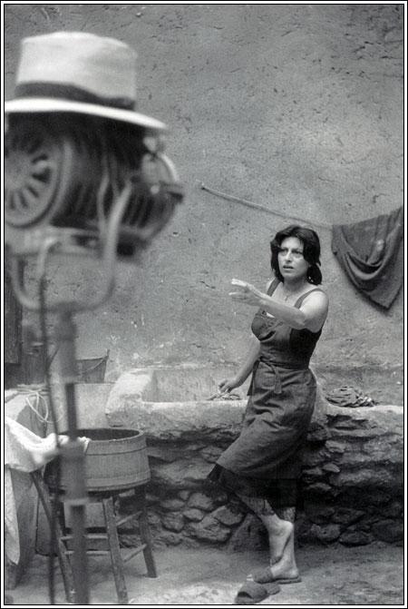 Foto scattata dietro le quinte del film Vulcano