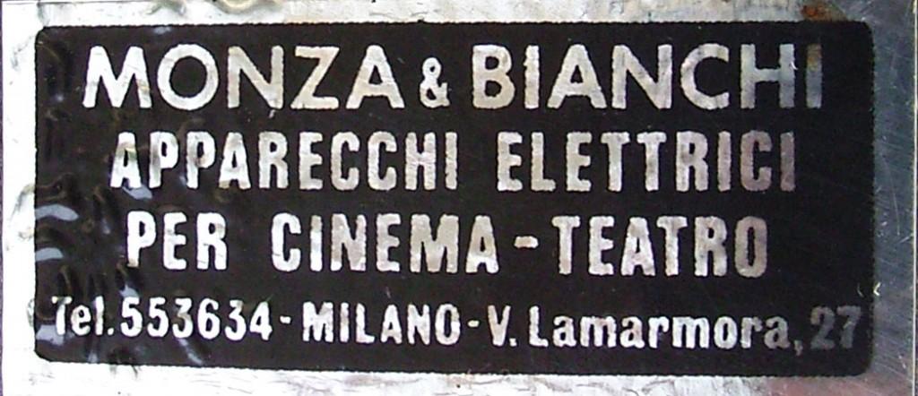 """Etichetta """"Monza e Bianchi"""""""