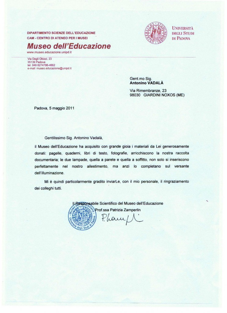 """Museo dell'Educazione """"Università di Padova"""" Zoom"""