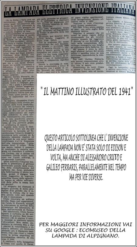 Nell'invenzione della lampada |ALESSANDRO CRUTO & GALILEO FERRARIS|