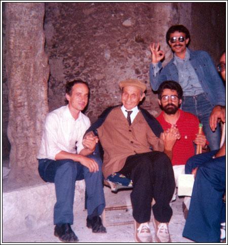 Orazio Strano a Taormina 1981, tra Nino Vadalà e Nino Scandurra
