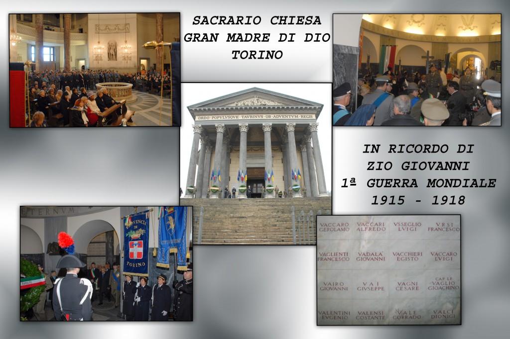 In ricordo a Zio Giovanni, morto in guerra nel 1918. I suoi resti riposano nel SACRARIO GRAN MADRE DI DIO A TORINO .Zoom