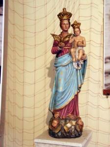 """Statuetta terracotta colorata """"M.SS.RACCOMANDATA"""""""